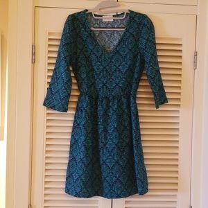 Turquoise quarter sleeve dress
